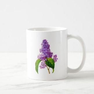 Purple Lilacs by Pierre-Joseph Redoute Basic White Mug