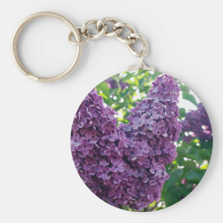 Purple Lilacs Keychain