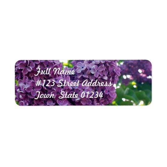 Purple Lilacs  Mailing Label Return Address Label