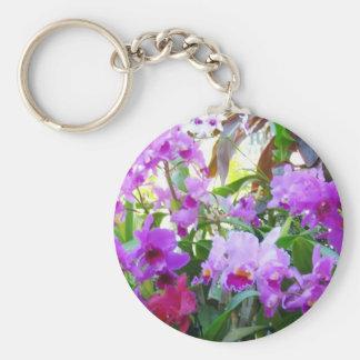 Purple Lilies Key Chain