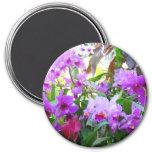 Purple Lilies Magnet