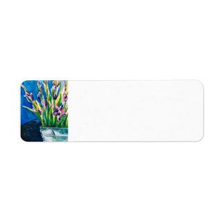 Purple Lilies Return Address Label