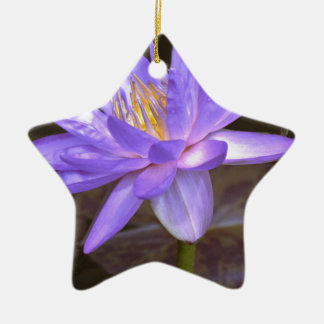 Purple lily christmas ornament