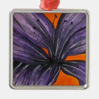Purple Lily Christmas Ornament