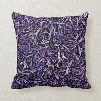 Purple Lily Design Throw Pillow