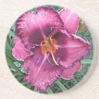 Purple Lily Flower Coasters