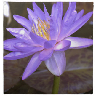 Purple lily napkin