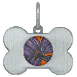 Purple Lily Pet ID Tag