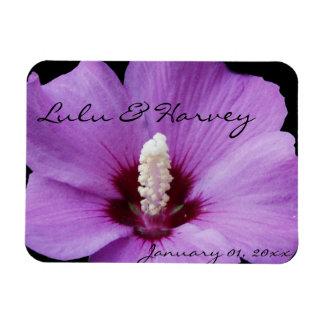 Purple Lily Up Close Rectangular Photo Magnet