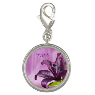 Purple Lily with Waterfall