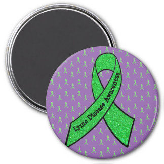 Purple & Lime Green Lyme Disease Awareness Magnet
