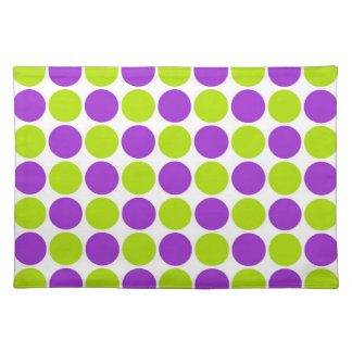 Purple & Lime Polka Dots Placemat
