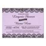 Purple Lingerie Bride Shower Invitation Lace Lilac
