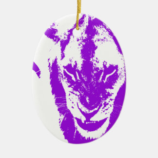 Purple Lion King Christmas Ornament