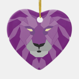 purple lion vektor art christmas ornament