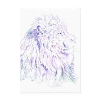 Purple Lion  ~ Wrapped Canvas