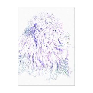 Purple Lion  ~ Wrapped Canvas Gallery Wrapped Canvas