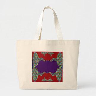 Purple lips Dimple Chin - No Love No Life Jumbo Tote Bag