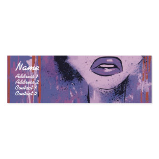 Purple Lips - Skinny Pack Of Skinny Business Cards