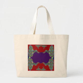 Purple LIPS: Space to add text Greeting Name Bless Tote Bag