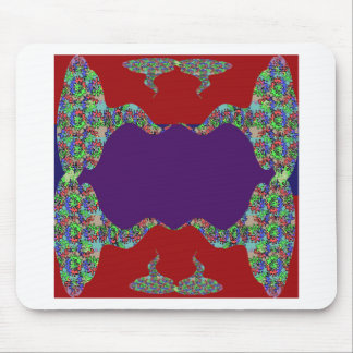 Purple LIPS Space to add text Greeting Name Bless Mouse Pads