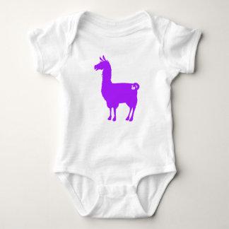 Purple Llama Baby Bodysuit