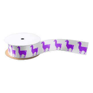 Purple Llama Ribbon Satin Ribbon