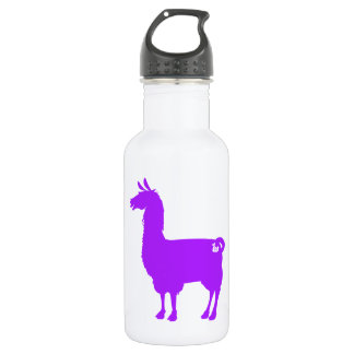 Purple Llama Water Bottle