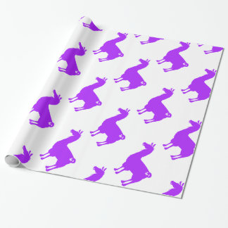 Purple Llama Wrapping Paper