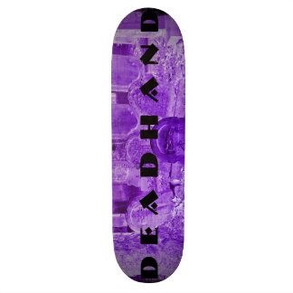 Purple Logo Tombstone Skate Deck