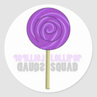 Purple Lollipop Classic Round Sticker