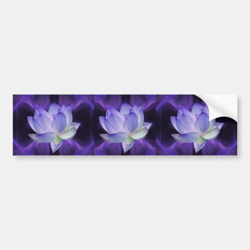 Purple Lotus and sacred geometry Bumper Stickers