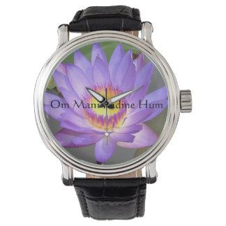 Purple Lotus Blossom Watch