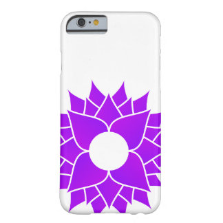 Purple Lotus Centered Barely There iPhone 6 Case