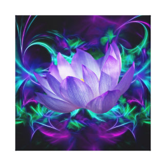 Purple Lotus flower and its meaning Stretched Canvas Print