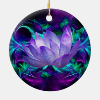 Purple lotus flower and its meaning christmas ornament