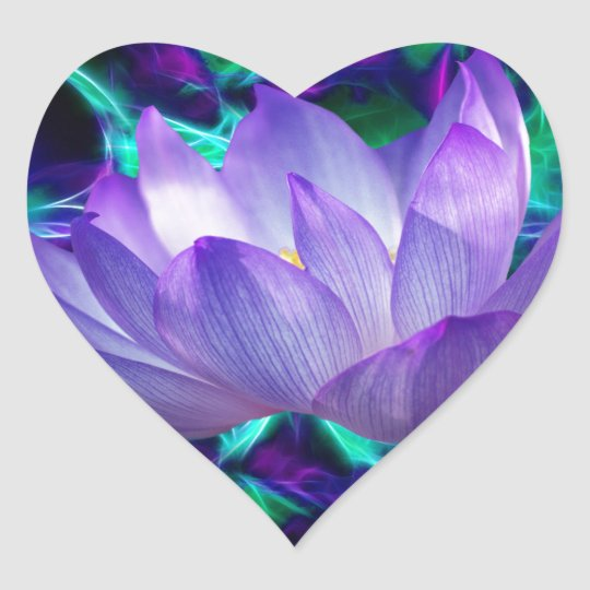 Purple lotus flower and its meaning heart sticker zazzle purple lotus flower and its meaning heart sticker mightylinksfo