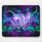 Purple lotus flower and its meaning mouse mat