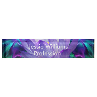 Purple lotus flower and its meaning name plate