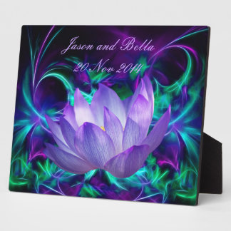 Purple lotus flower and its meaning plaque