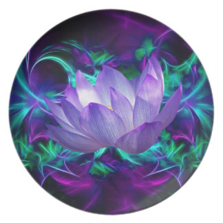 Purple lotus flower and its meaning plate