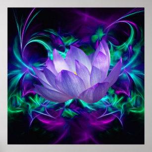 Purple lotus flower posters prints zazzle uk purple lotus flower and its meaning poster mightylinksfo
