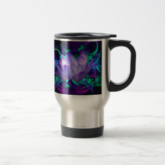 Purple lotus flower and its meaning stainless steel travel mug
