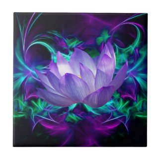 Purple lotus flower and its meaning tiles
