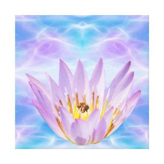 Purple Lotus flower Gallery Wrap Canvas