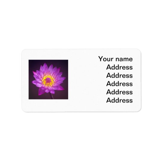 Purple Lotus Flower Label