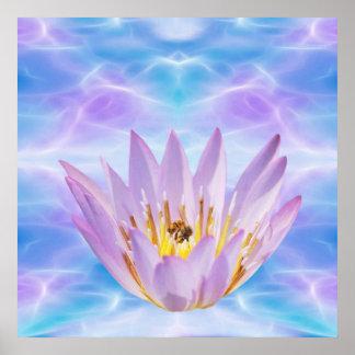 Purple Lotus flower Posters