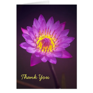 Purple Lotus Flower Thank You Card