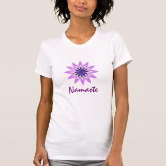 Purple Lotus Flower Yoga Meditation Instructor Tee Shirts