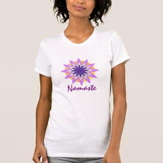 Purple Lotus Flower Yoga Meditation Instructor Tee Shirt